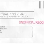 Gentlemen of Chance Spiritual Bureaucracy Reply Envelope